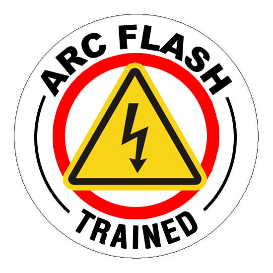 Arc Flash Trained Hard Hat Sticker 2 - 2 inch Circle