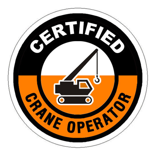 Certified Crane Operator Hard Hat Sticker - 2 inch Circle