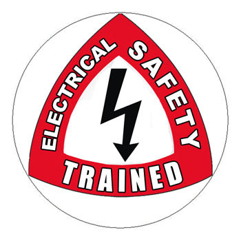 Electrical Safety Trained Hard Hat Sticker - 2 inch Circle