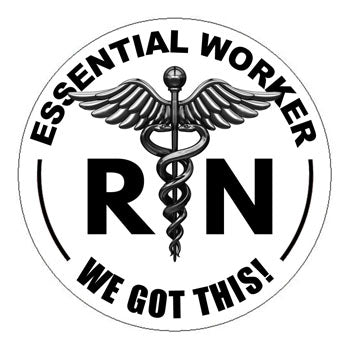 Essential Worker RN Hard Hat Sticker - 2 inch Circle