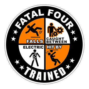 Fatal Four Trained Hard Hat Sticker 2 - 2 inch Circle