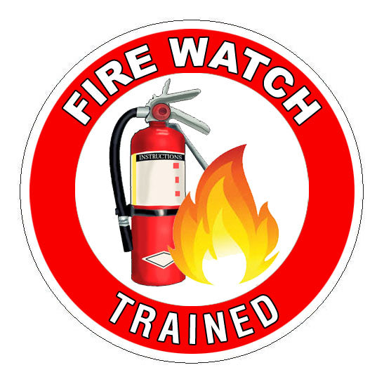 Fire Watch Trained Hard Hat Sticker 2 - 2 inch Circle