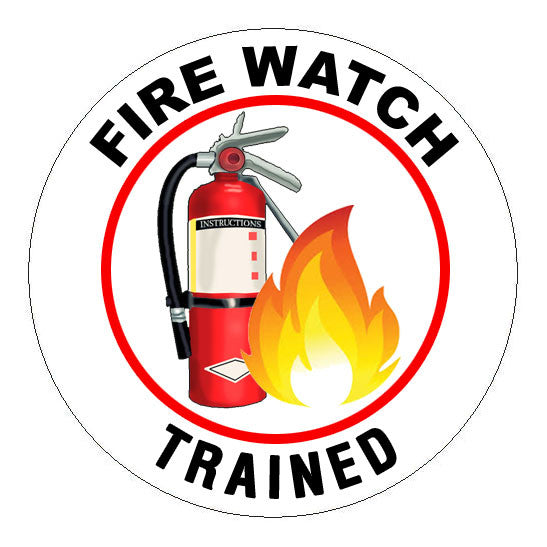 Fire Watch Trained Hard Hat Sticker - 2 inch Circle