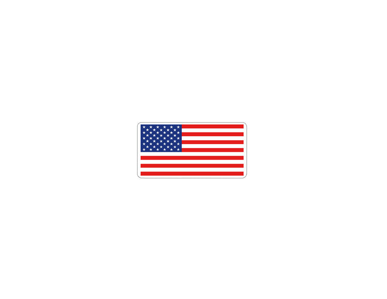 100 Flat American Flag Stickers - 3