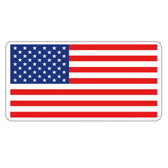 American Flag Hard Hat Sticker - 3