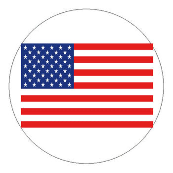 American Flag Hard Hat Sticker - 2 inch Circle