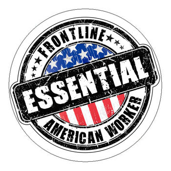 Frontline Essential American Worker Hard Hat Sticker - 2 inch Circle