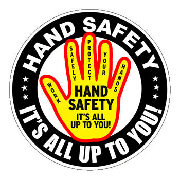 Hand Safety Trained Hard Hat Sticker 1 - 2 inch Circle