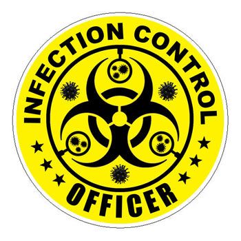 Infection Control Officer (ICO) Hard Hat Sticker Yellow - 2 inch Circle