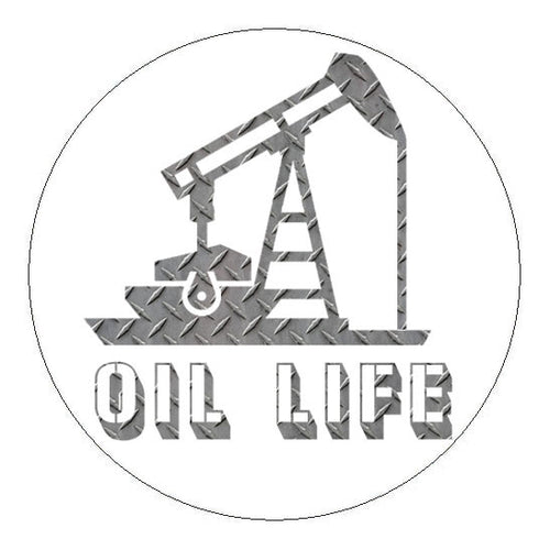 Oil Life Hard Hat Sticker - 2 inch Circle