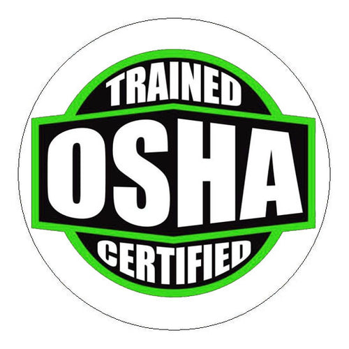 OSHA Certified Trained Hard Hat Sticker - 2 inch Circle