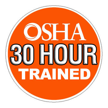 OSHA 30 Trained Hard Hat Sticker - 2 inch Circle
