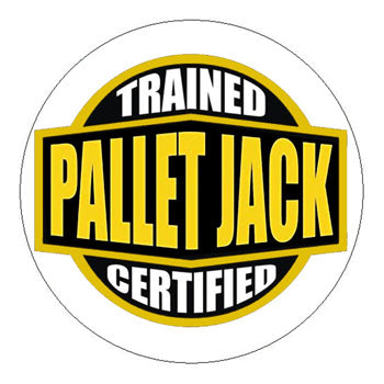 Pallet Jacket Trained Certified Hard Hat Sticker - 2 inch Circle