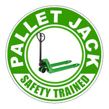 Pallet Jacket Trained Certified Hard Hat Sticker 2 - 2 inch Circle