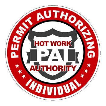 Permit Authorizing Individual (PAI) Hard Hat Sticker 1 - 2 inch Circle