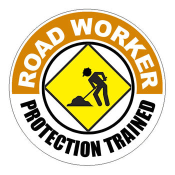 Road Worker Protection Trained Hard Hat Sticker 2 - 2 inch Circle