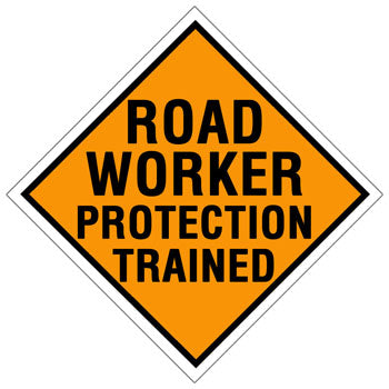 Road Worker Protection Trained Hard Hat Sticker 1 - 2 inch Sticker