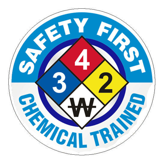Safety First Chemical Trained Hard Hat Sticker