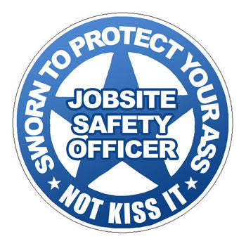 Safety Officer Hard Hat Sticker 3 - 2 inch Circle
