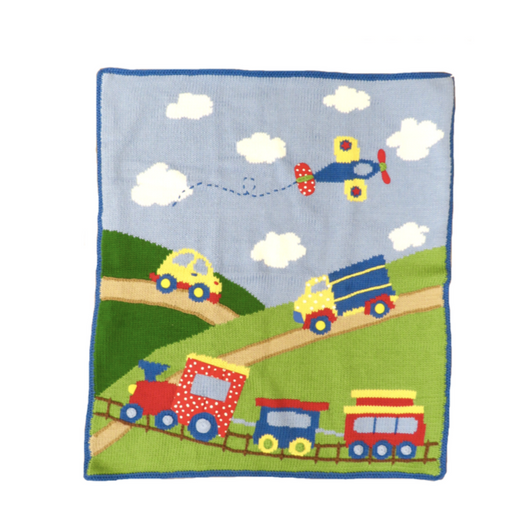 Car Truck Plane Train Blanket