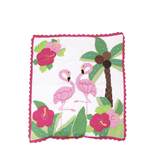 Flamingo and Palm Tree Blanket