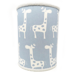 Blue Giraffe Waste Basket
