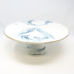 Large Marbled Cake Plate