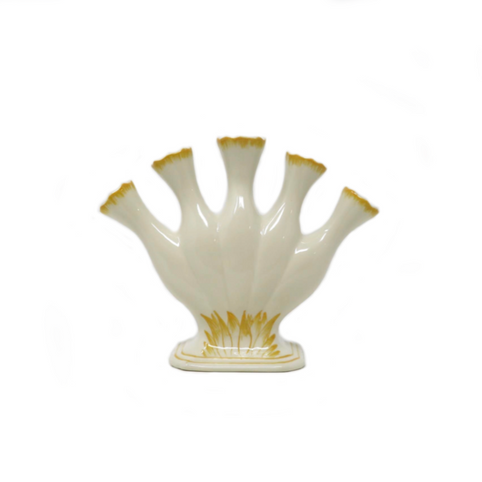 Small Yellow & White Tulipiere Bloom Vase