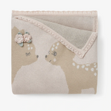 Elegant Baby Fawn Cotton Knit Blanket