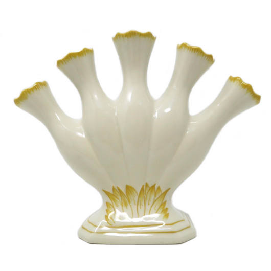 Large Yellow & White Tulipiere Bloom Planter