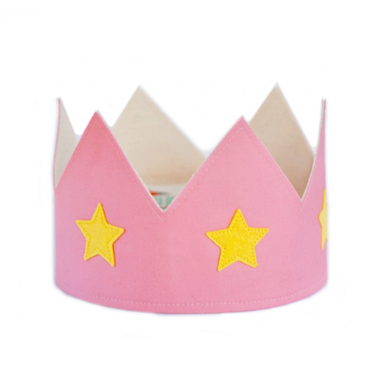 Pink and Yellow Crown
