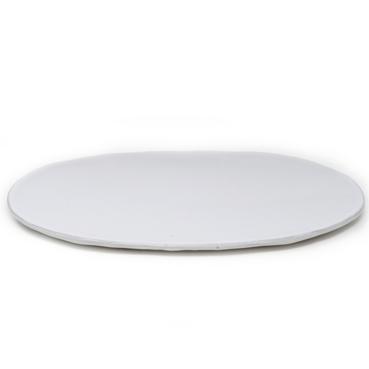 Terra Cotta Oval White Plate