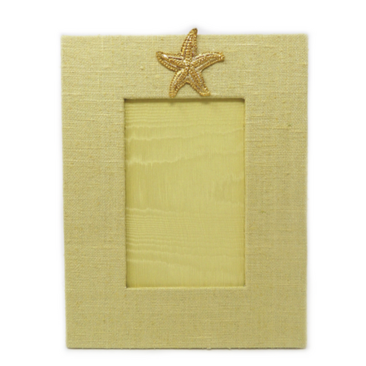 Vertical Yellow Frame with Starfish Medallion
