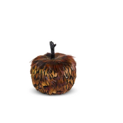 Rust and Brown Feather Pumpkin