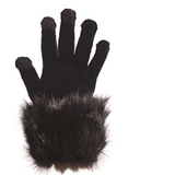 Fur Trimmed Tech Gloves by Fabulous Furs