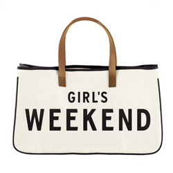 Girls Weekend Canvas Tote