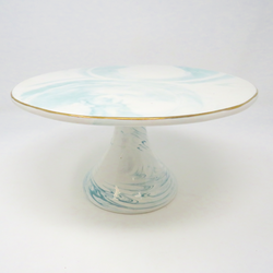 Small Marbled Cake Plate