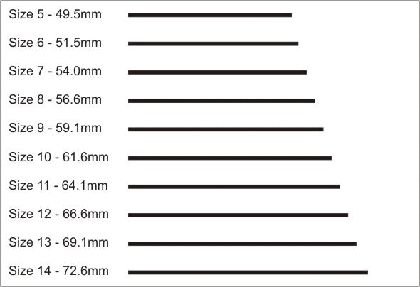 picture regarding Printable Ring Size Strip identified as Locate Your Ring Dimension Jewel Tree London