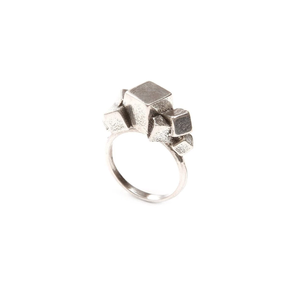 7CUBE RING  18ct Gold Vermeil