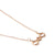 Baori Trinity Silhouette Necklace - Rose Gold Vermeil