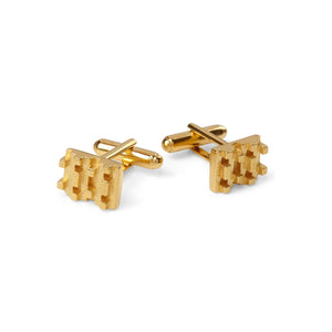 HIVE LEGO CUFFLINKS  18ct Gold Vermeil