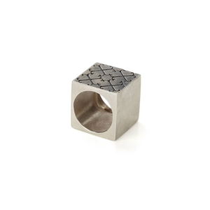 LOGO CUBE RING  18ct Gold Vermeil