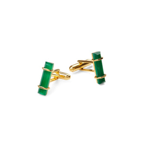 URBAN CUFFLINKS  Green Onyx