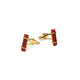 URBAN CUFFLINKS  Red Onyx