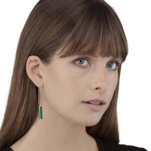 Earring - URBAN EARRINGS </br> Green Onyx