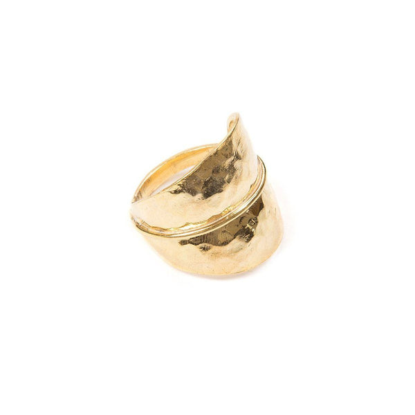 Ring - FOREST LEAF RING </br> 18ct Gold Vermeil