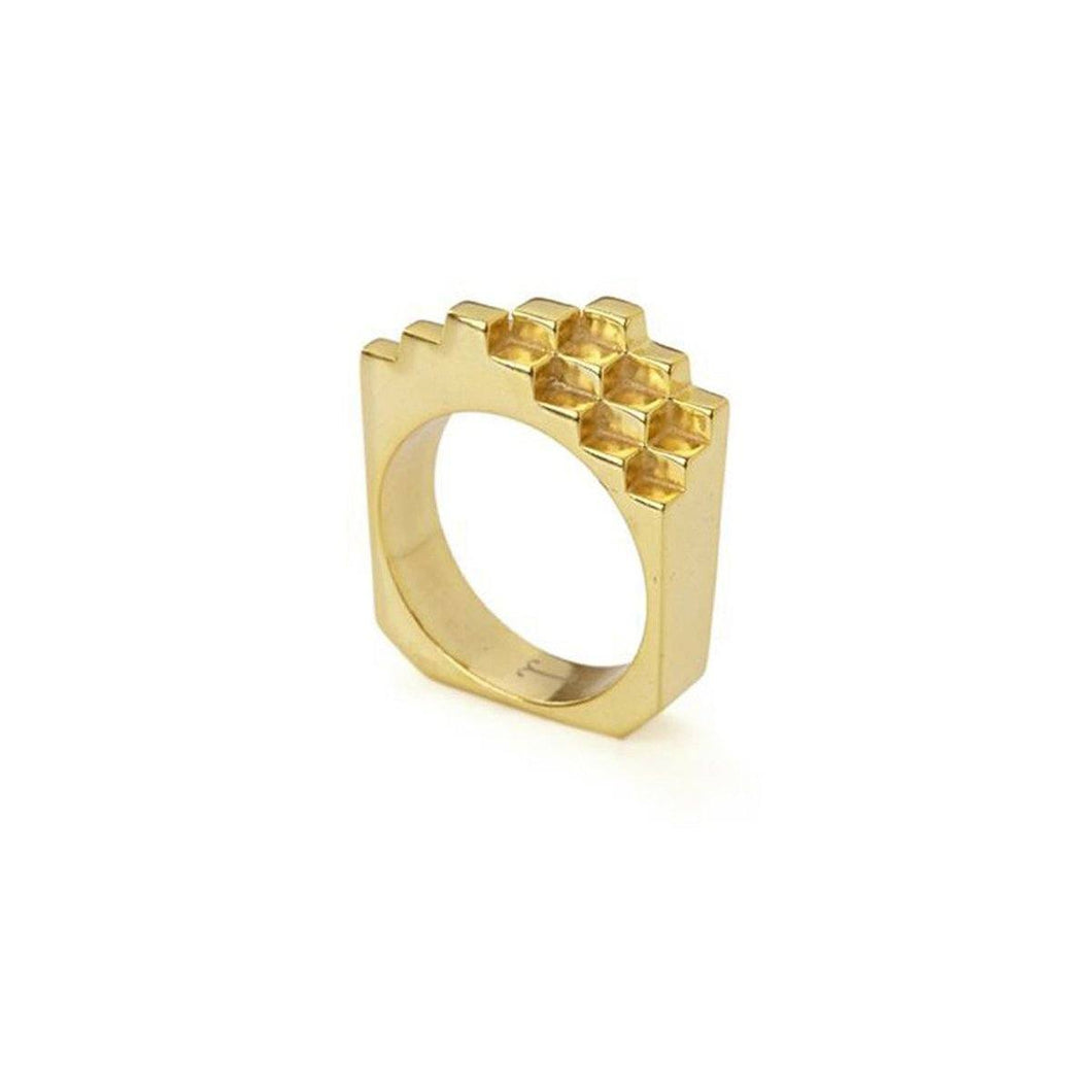 Ring - HIVE RING </br> 18ct Gold Vermeil