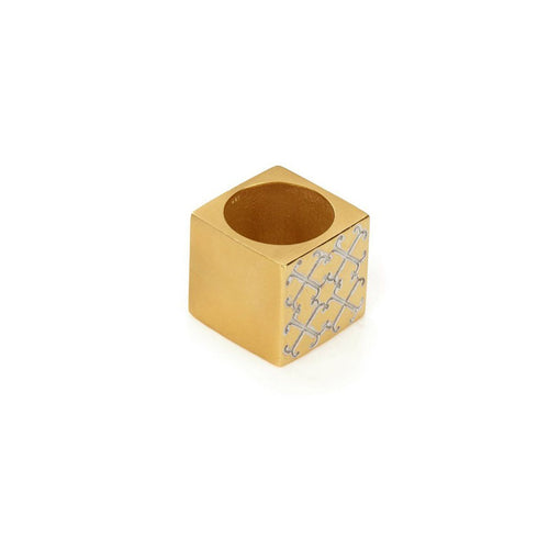 Ring - LOGO CUBE RING </br> 18ct Gold Vermeil