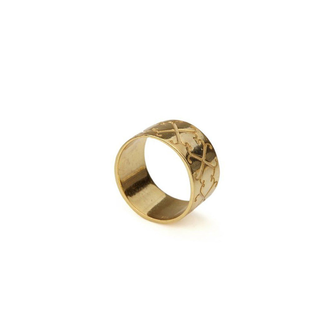 Ring - LOGO RING </br> 18ct Gold Vermeil