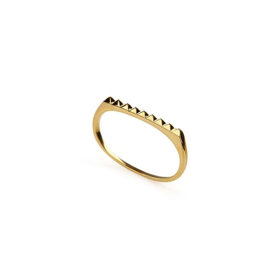 Ring - PURE PYRAMID DOUBLE RING </br> 18ct Gold Vermeil